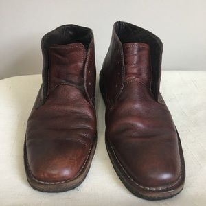 JOHNSTON & MURPHY Brown Leather Chukka Boot 11M